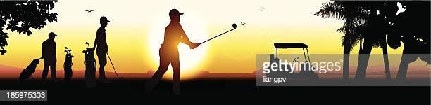 golf & resort - tourist resort stock illustrations, clip art, cartoons, & icons