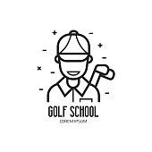 Golf School or Club Emblem
