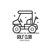 Golf School or Club Logotype with Cart