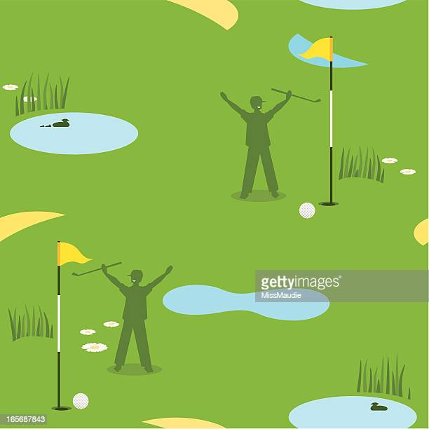 golf seamless pattern male - sand trap stock illustrations, clip art, cartoons, & icons
