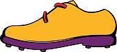 Golf shoe icon, icon cartoon