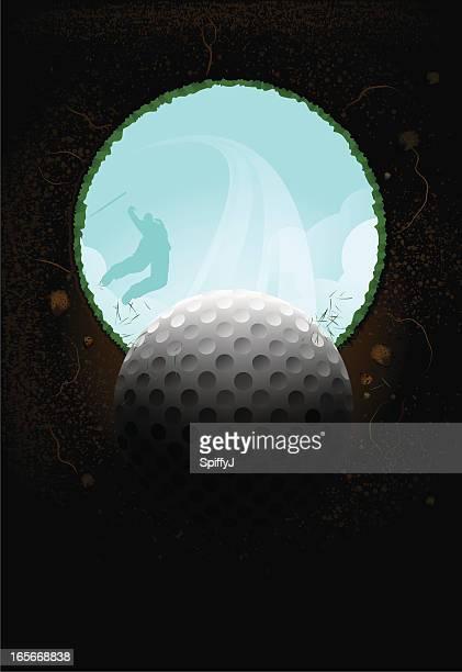 ゴルフ撮影低角度
