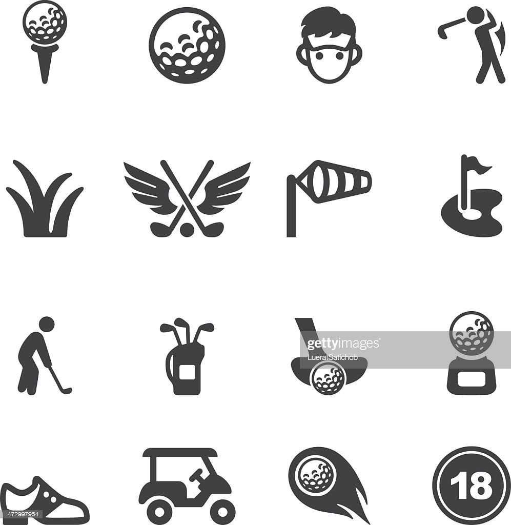 Golf Silhouette icons | EPS10