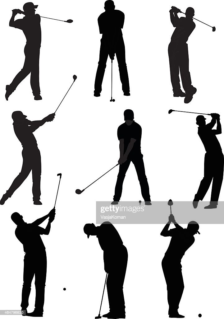 Golf Silhouettes Set Vector Art Getty Images