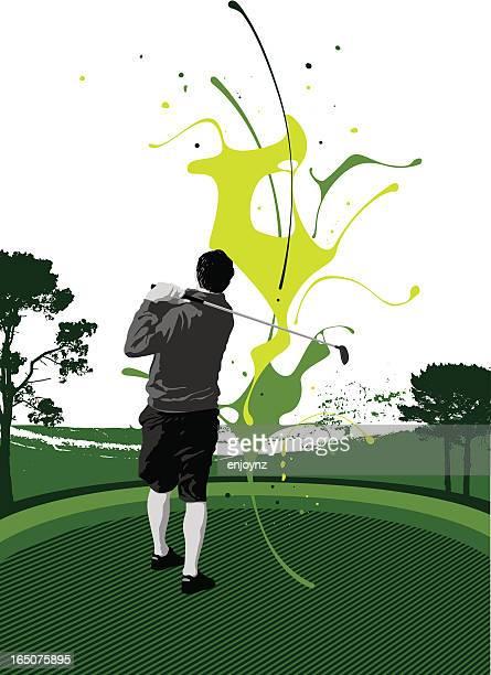 golf splat - teeing off stock illustrations, clip art, cartoons, & icons