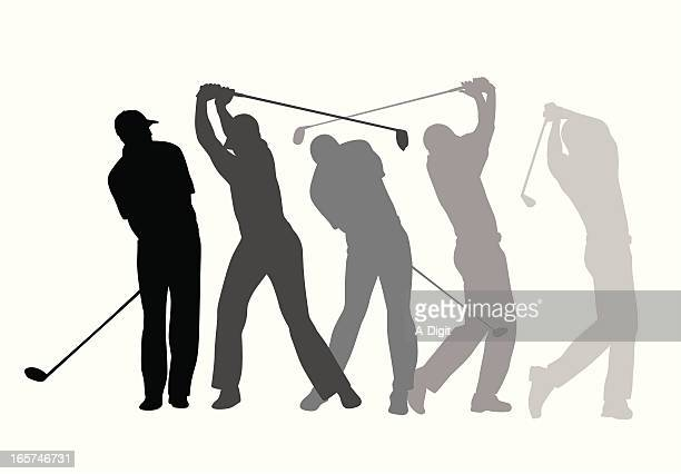 golf steps vector silhouette