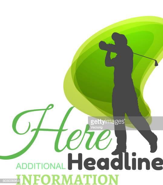 golf symbol - golf swing stock illustrations, clip art, cartoons, & icons
