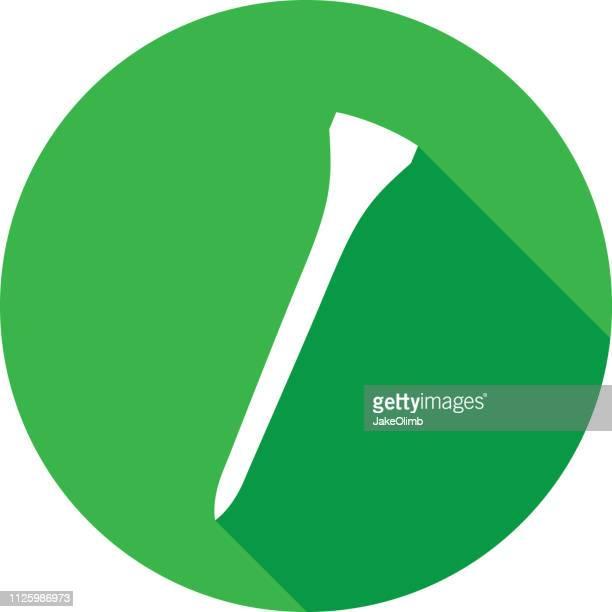 golf-abschlag-symbol-silhouette - golftee stock-grafiken, -clipart, -cartoons und -symbole
