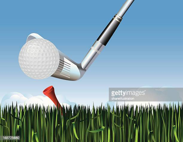 golf tee off - teeing off stock illustrations, clip art, cartoons, & icons