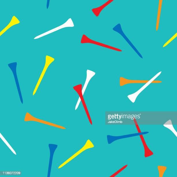 golf tee pattern 2 - golftee stock-grafiken, -clipart, -cartoons und -symbole