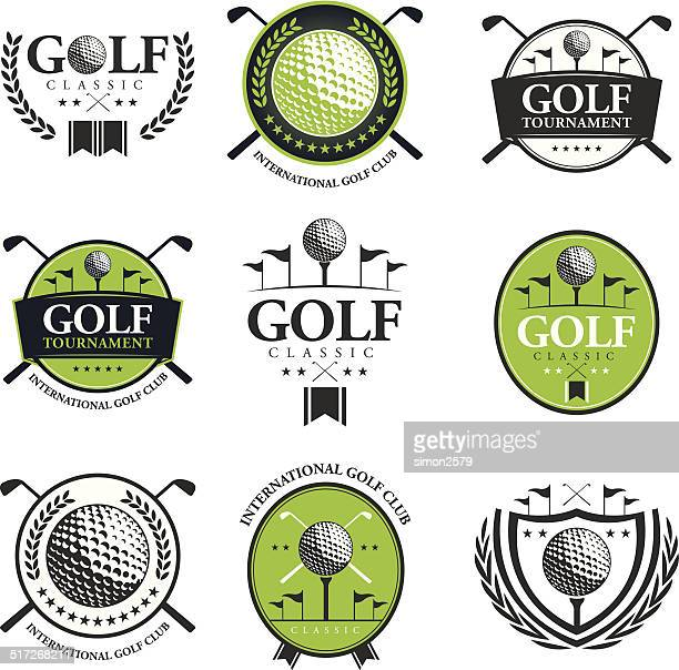 golf tournament emblem - golf stock illustrations