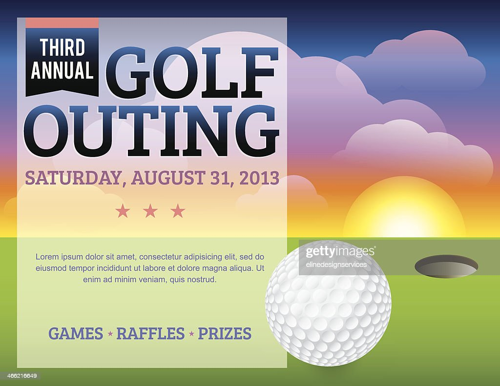 A golf tournament invitation design