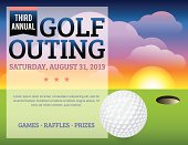 A golf tournament invitation design