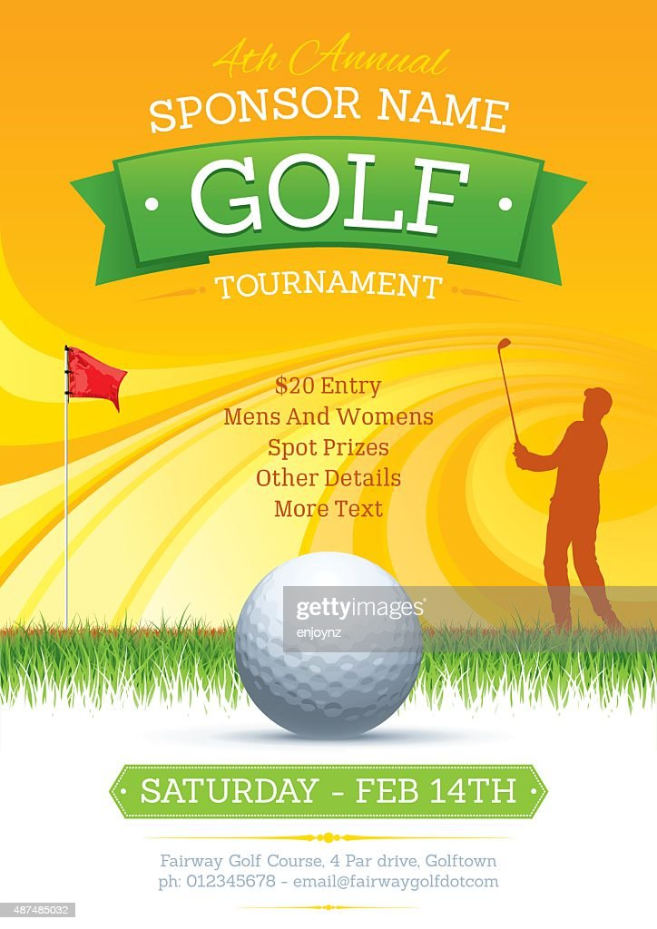 Golf tournament poster : stock illustration