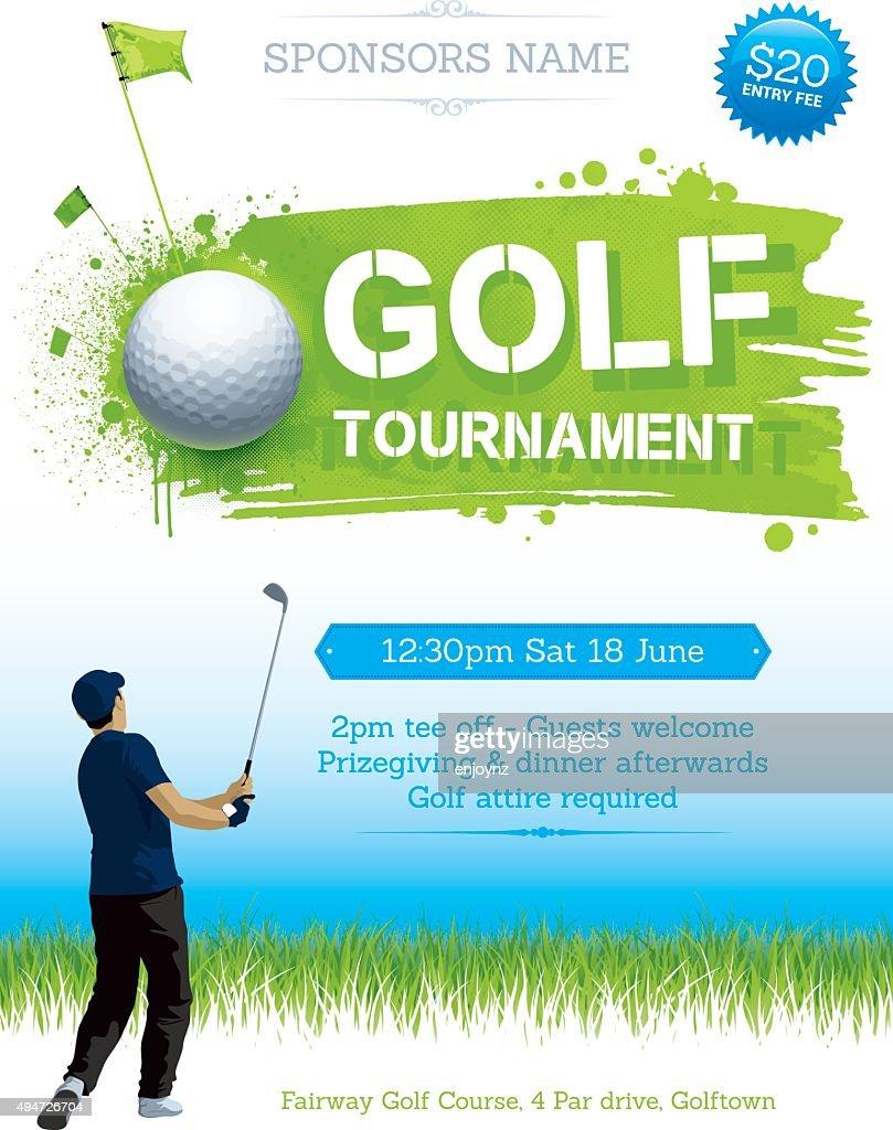 Golf tournament poster : stock illustration