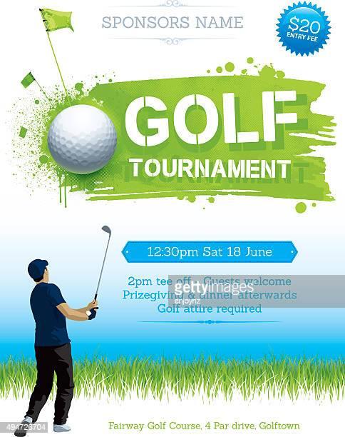 ゴルフトーナメントのポスター