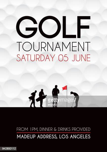 golf tournament poster - golf stock illustrations