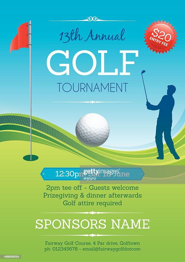 Golf Tournament Poster Vector : stock illustration