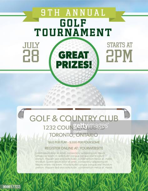 golf tournament template - golf tournament stock illustrations, clip art, cartoons, & icons