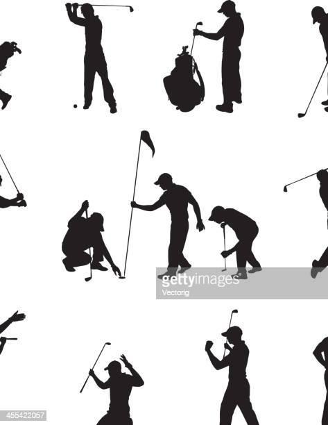 ilustrações de stock, clip art, desenhos animados e ícones de de golfe - golf tournament