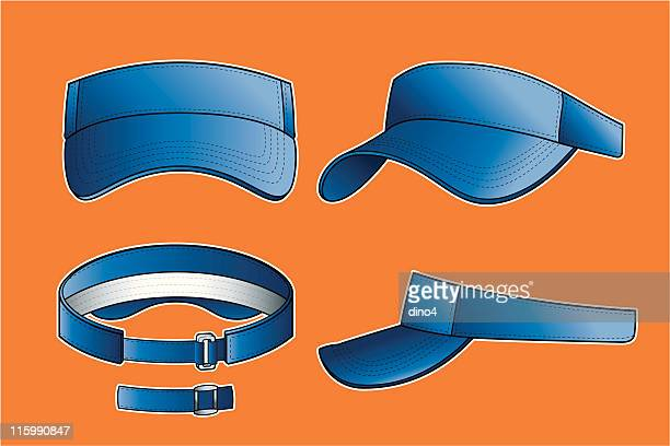 golf visor - cap hat stock illustrations, clip art, cartoons, & icons