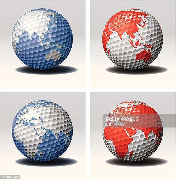 golf world's ball-est - traditional sport stock illustrations, clip art, cartoons, & icons