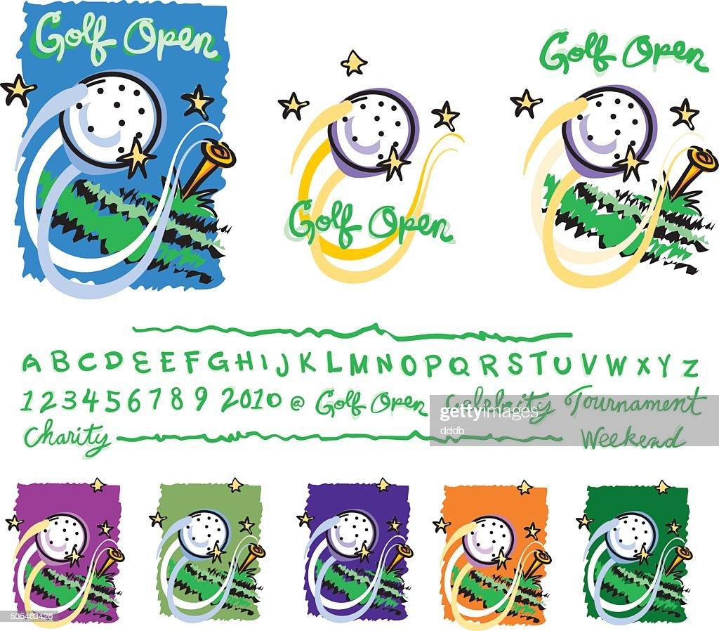 golf_event_sketch_style : stock illustration