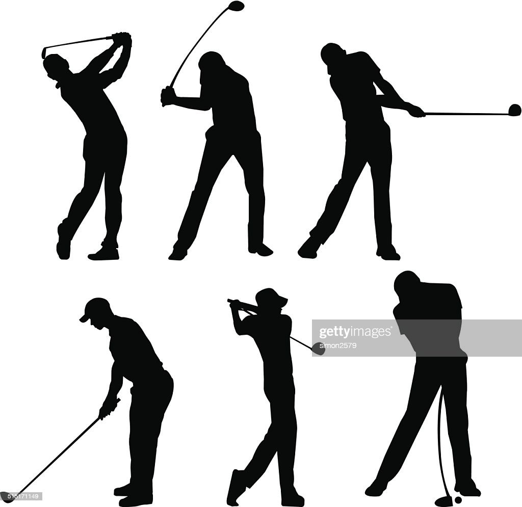 Golfer Silhouette Vector Art Getty Images