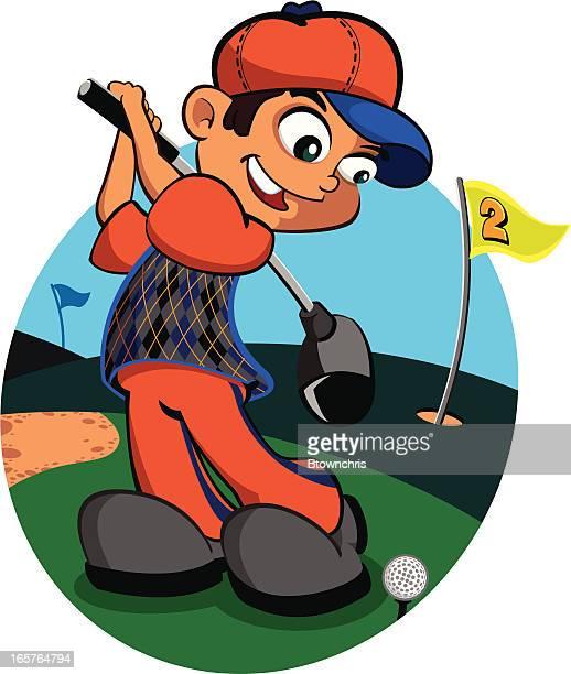 golfer - sand trap stock illustrations, clip art, cartoons, & icons