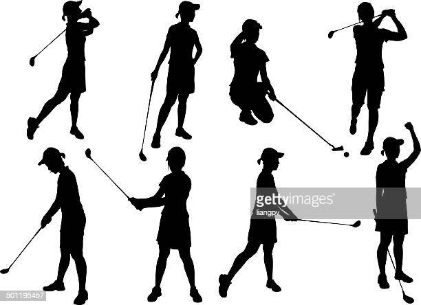 golfer - golf swing stock illustrations