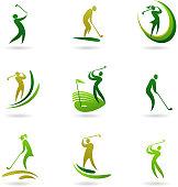 Golfers icons