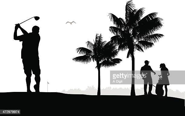 golfing season - golfer stock illustrations