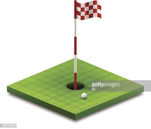golfing - ace stock illustrations