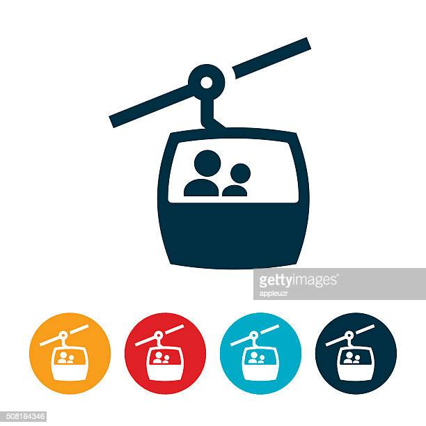 gondel skilift-symbol - gondel stock-grafiken, -clipart, -cartoons und -symbole