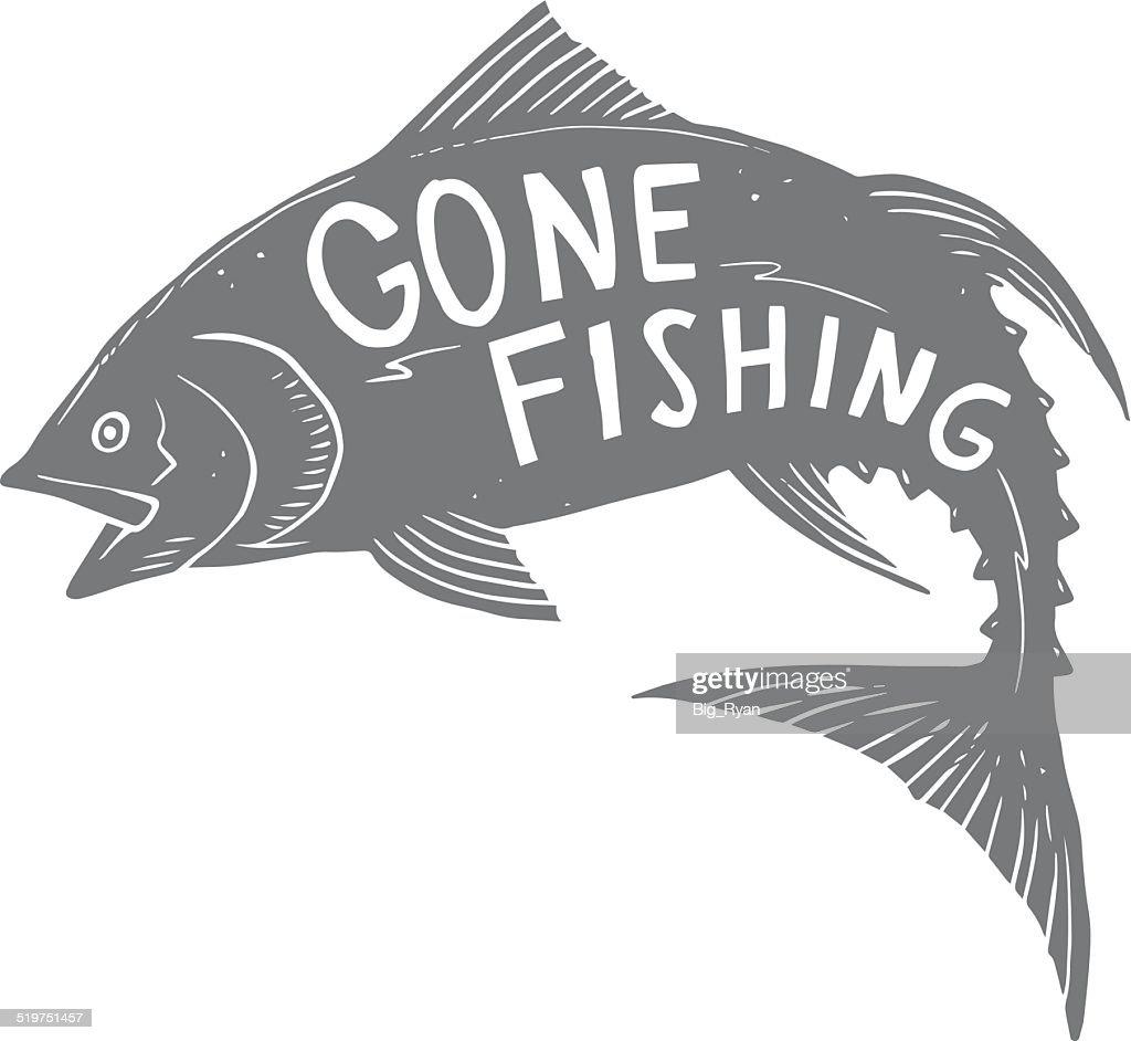 gone fishing tuna : stock illustration