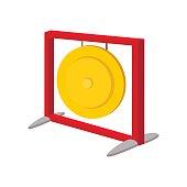 Gong cartoon icon