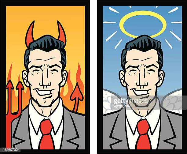 good and bad business men - foreman stock illustrations, clip art, cartoons, & icons