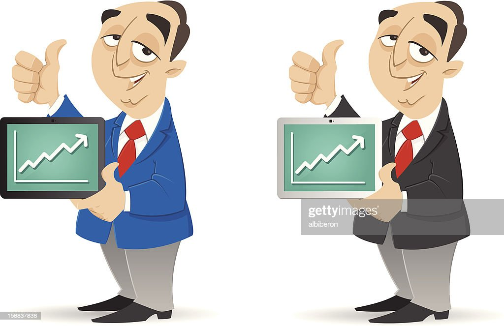Good business on Tablet : stock illustration