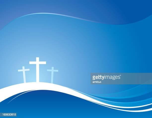 good friday bg - holy week stock illustrations, clip art, cartoons, & icons