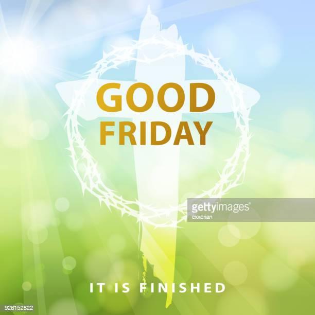good friday crucifixion - holy week stock illustrations, clip art, cartoons, & icons