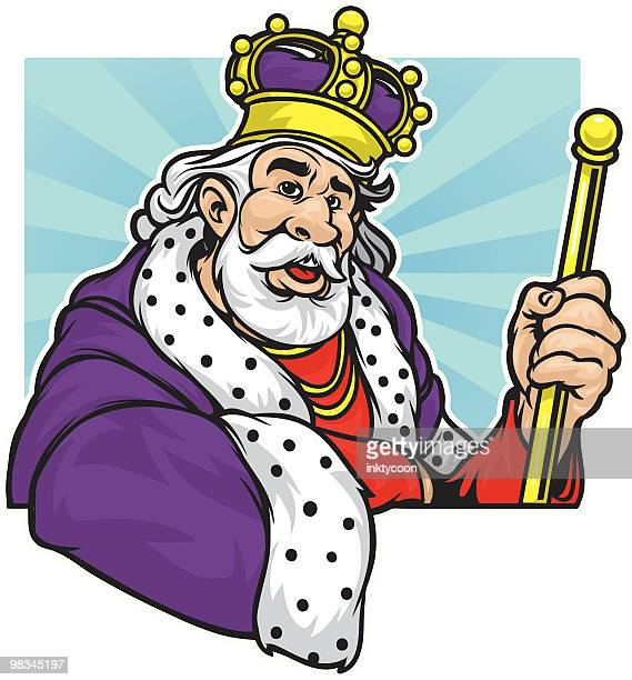 good king - king royal person stock illustrations, clip art, cartoons, & icons