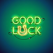 Good Luck Neon Sign