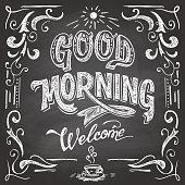 Good Morning cafe chalkboard