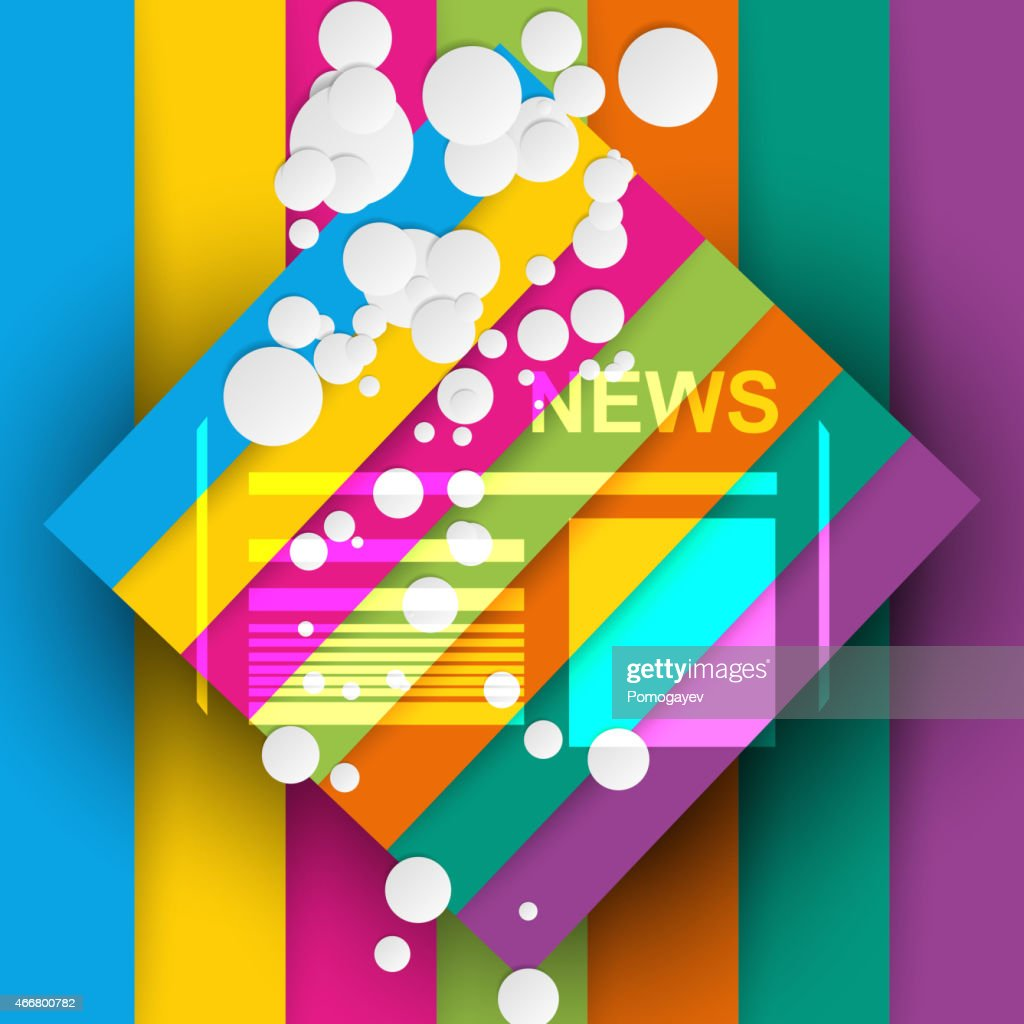 Good news abstract colorful background