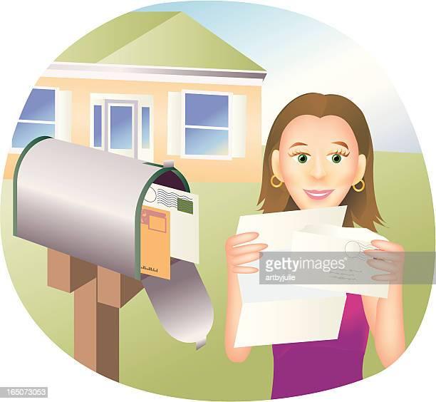 good news - junk mail stock illustrations