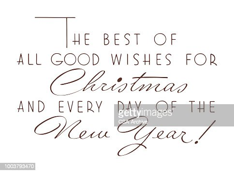 Good Wishes For Christmas And New Year Vector Art | Getty Images