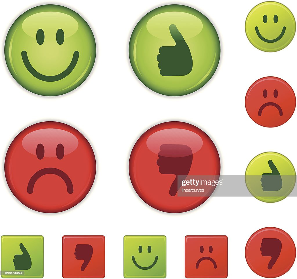 Good/bad, right/wrong, happy/sad, thumbs-up/thumb down