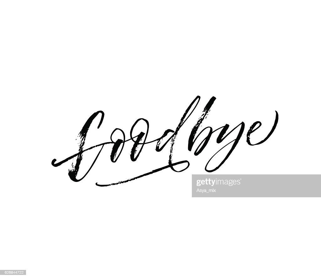 Goodbye hand drawn lettering.
