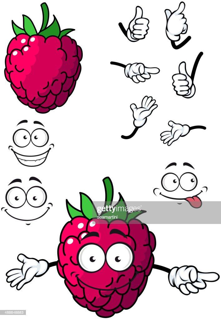Goofy little cartoon raspberry