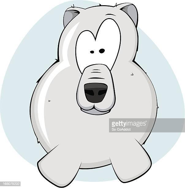 Goofy Polar Bear Vektor-Illustration